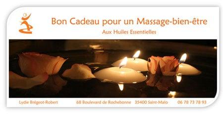 bon cadeau massage